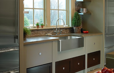 Stainless Steel Apron Front Kitchen Sinks on So I Think That S What Ll Go In The Kitchen Regardless Of The Sink