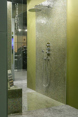 THG Shower with glass tile mosaic