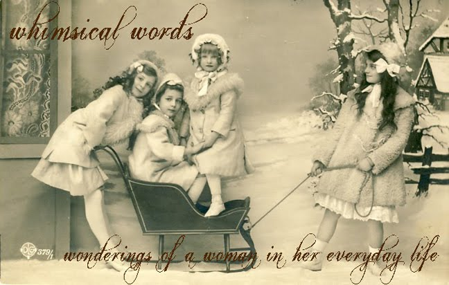 whimsical words: wonderings of a woman in her everyday life