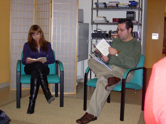Recital de poesía Centro Cultural Floridablanca el día 13 de diciembre de 2008