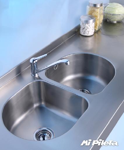 Bachas Para Baño De Acero Inoxidable:De Dos Baños y Cocinas: MESADAS y BACHAS