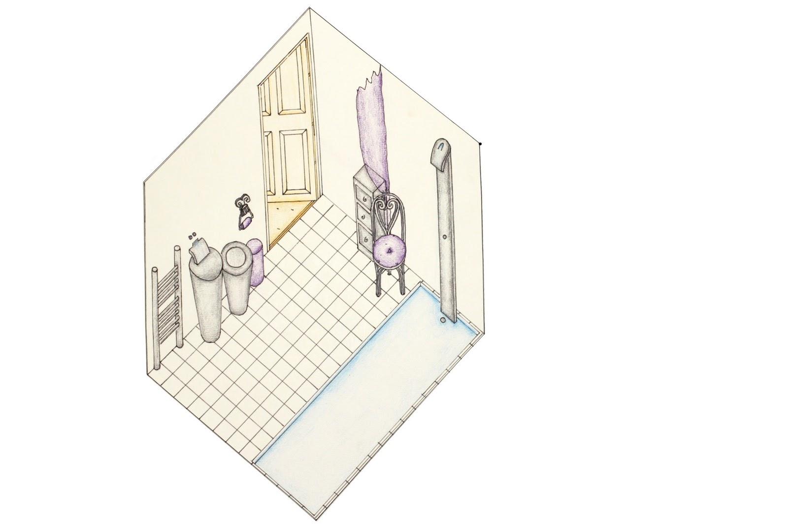 1069951885 Axonometric Bathroom Drawing