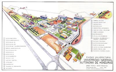 Mapa unah ciudad universitaria honduras en l nea hon for Piscina ciudad universitaria