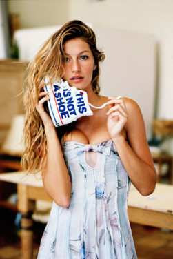 Gisele Bundchen Strips For Aids Charity