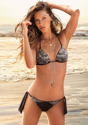 Gisele Bundchen Modeling Bikinis 