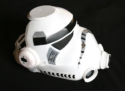 As far as clothing went I just used a back long sleeved top with a white vest over it. I didnu0027t have a poloneck/turtleneck so I just gave them a black ... & Filth Wizardry: Milk Jug Storm Trooper Helmet