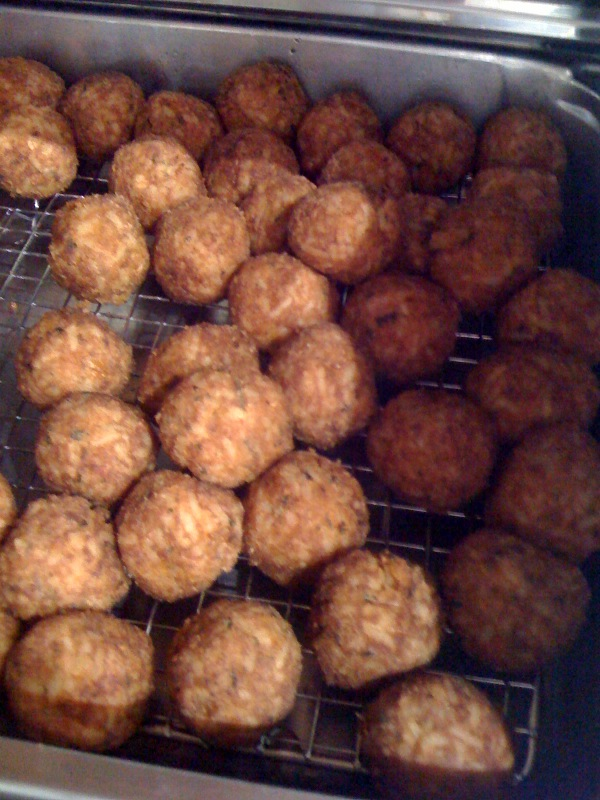 crawfish boudin balls | Fry Daddy | Pinterest