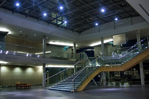 Inside Architecvtural  Design Of Atrium of University of Economics, prague
