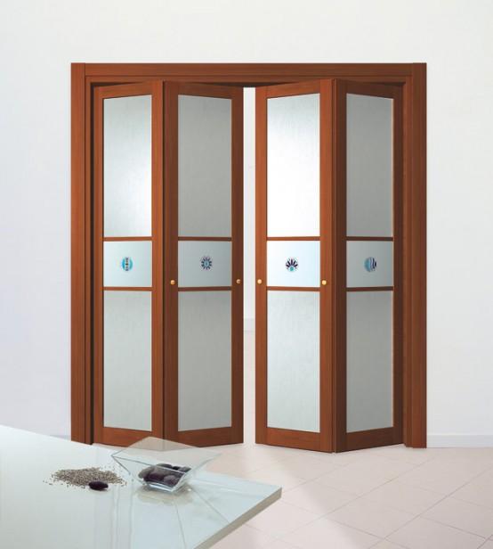 Slim wooden aluminum folding doors remodeling decorating for Decoration porte aluminium