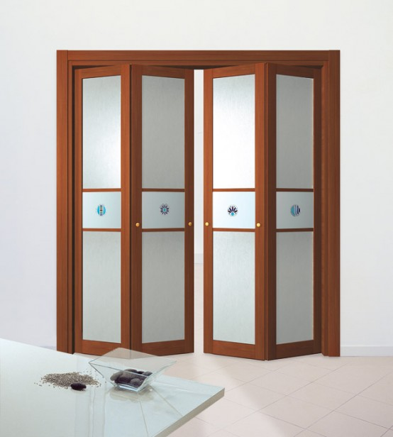 Slim wooden aluminum folding doors remodeling decorating for Decoration porte aluminium