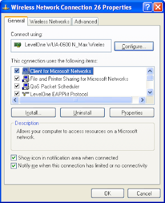 Xp wireless connection validating identity