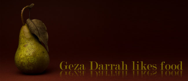 Geza Darrah likes food