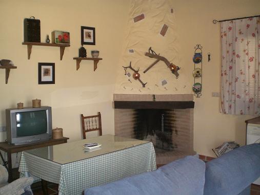 El salón de la casa pequeña