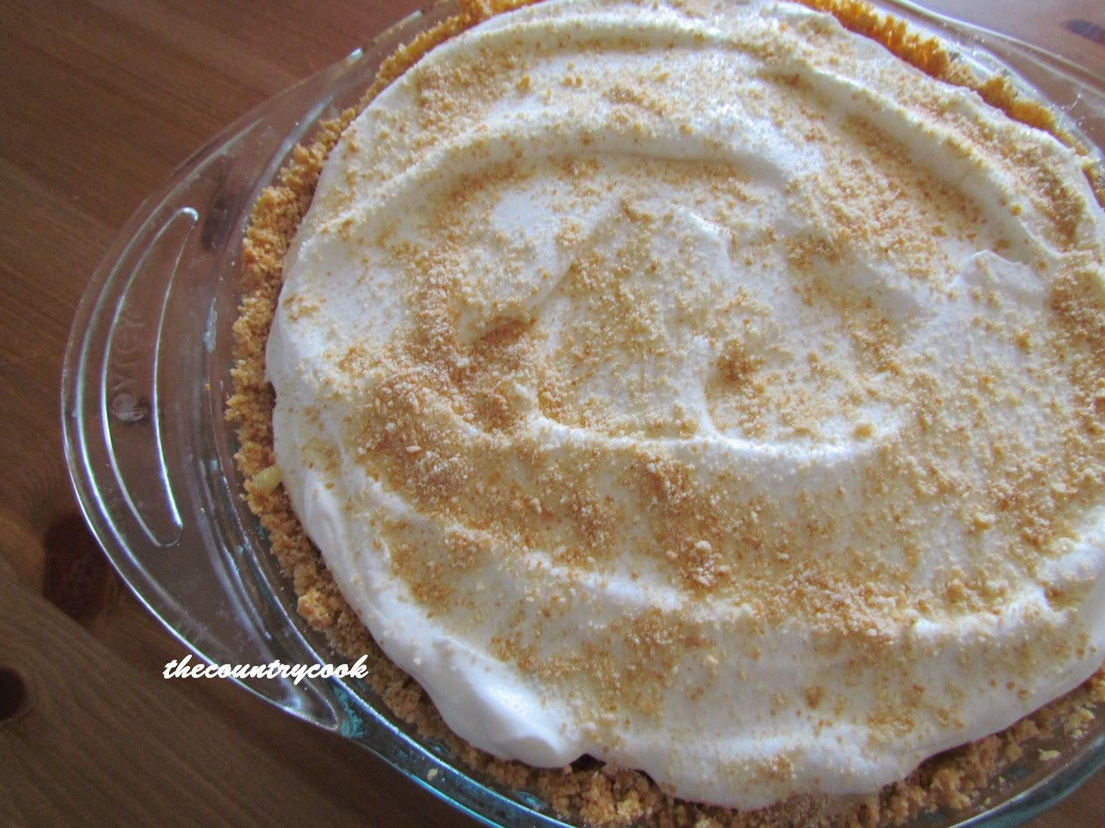 The Country Cook: Banana Pudding Pie
