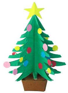 o christmas tree kirigami trees
