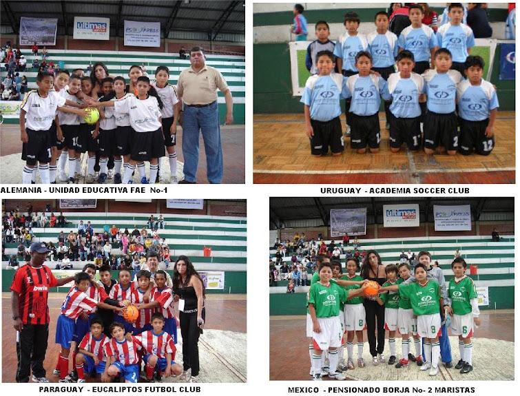 ALEMANIA - URUGUAY - PARAGUAY y MEXICO CLASIFICARON A SEMIFINALES DEL TERCER MUNDIALITO 2010