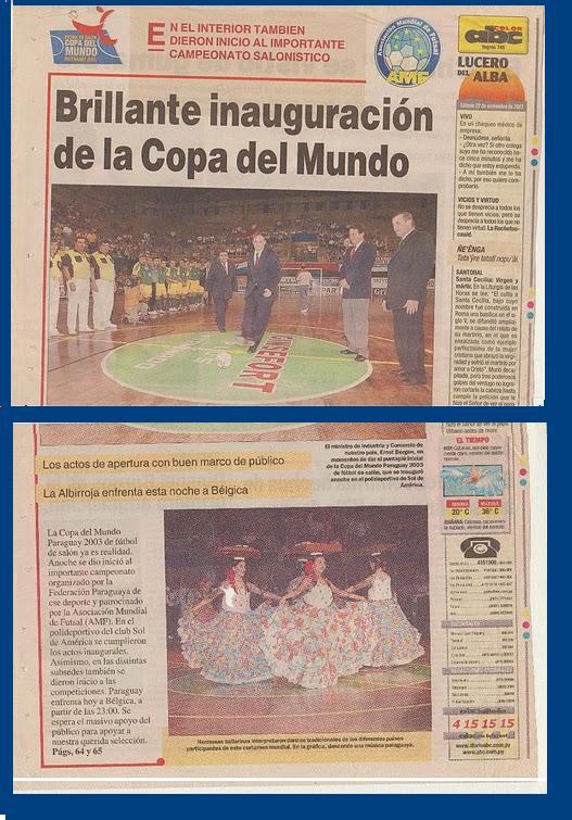 VIII CAMPEONATO MUNDIAL DE SELECCIONES NACIONALES PARAGUAY 2003