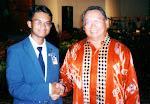 with YB Datuk Seri Panglima Joseph Pairin Kitingan ( Deputy Chief Ministry of Sabah, Malaysia)