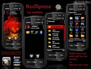 Redxpress by Morkino s60v5 theme