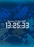 Digital Clock Flashlite screensaver – 240×320 pixel