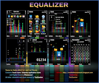 Equalizer Touch Icon Version by TheShadow for Nokia Nseries (s60v3 fp1 and fp2 phones)