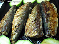 grilled sardines on the grill