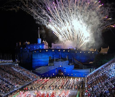 Edinburgh Military Tattoo. Venue: Castle Esplanade, Old Town.