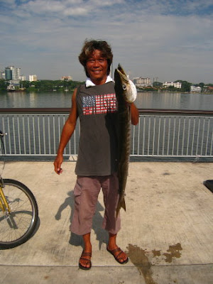 Yellowtail Barracuda Caught by Mr Chia At Woodland Jetty Fishing Hotspots was created to share with those who are interested in fishing on tips and type of fishes caught around Woodland Jetty Fishing Hotspots.