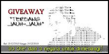 GIVEAWAY EDY:TERBANG JAUH-JAUH