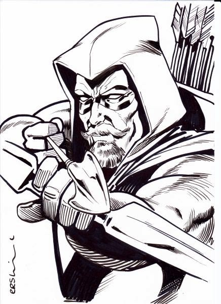 Gary Erskine Online Green Arrow Sketch London Mcm