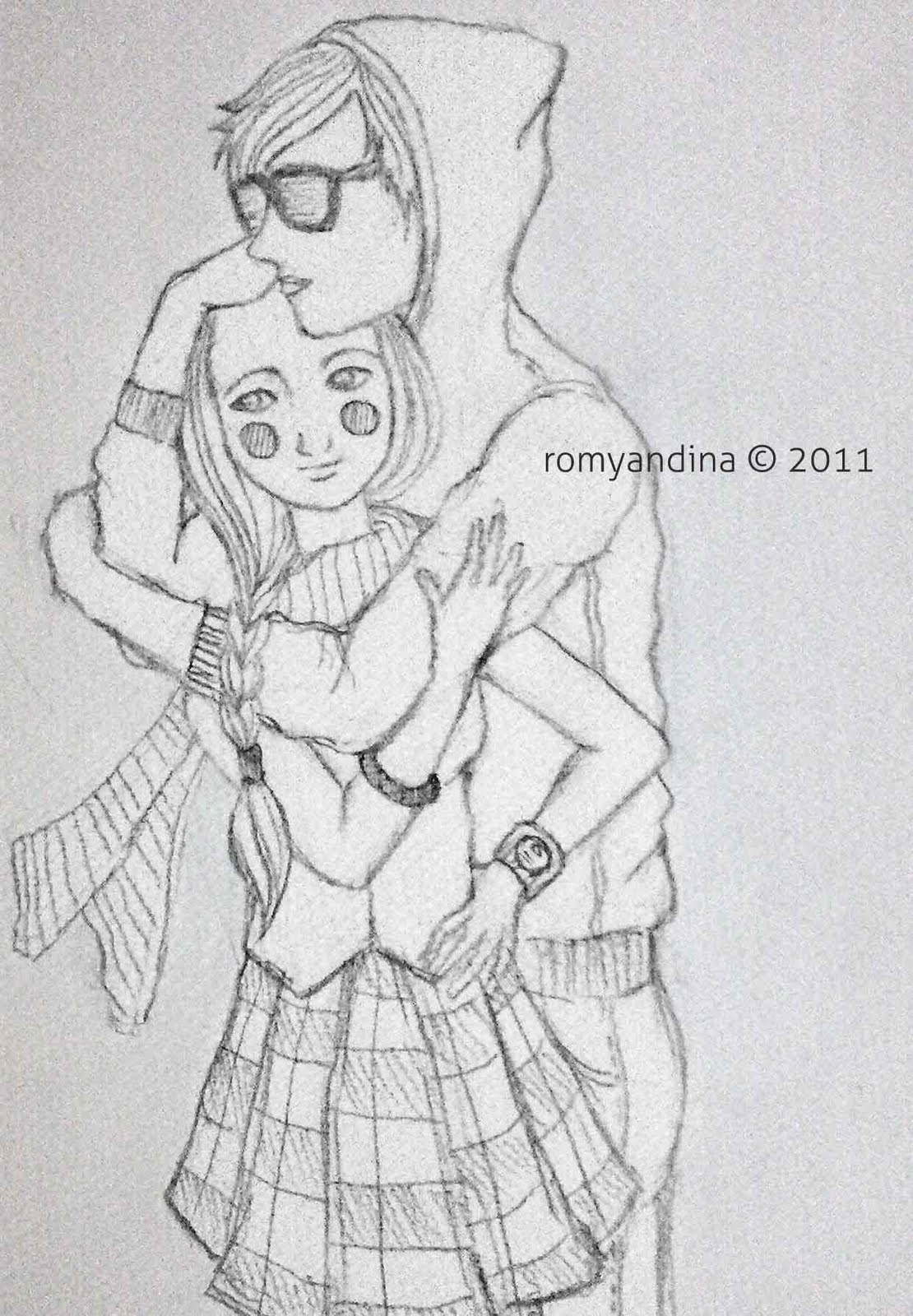 Boy hugging girl sketch boy hugging girl sketch boy