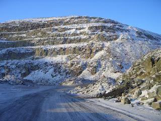 Горная дорога в Норильске
