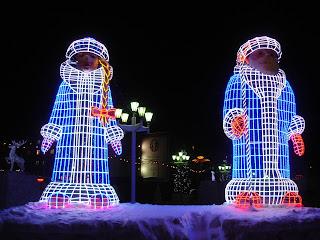 Дед мороз и снегурочка в Норильске