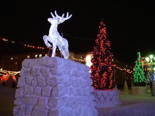 Скульптура Северный олень в Норильске