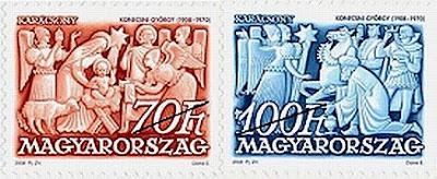 Konecsni György's conmemorative stamps
