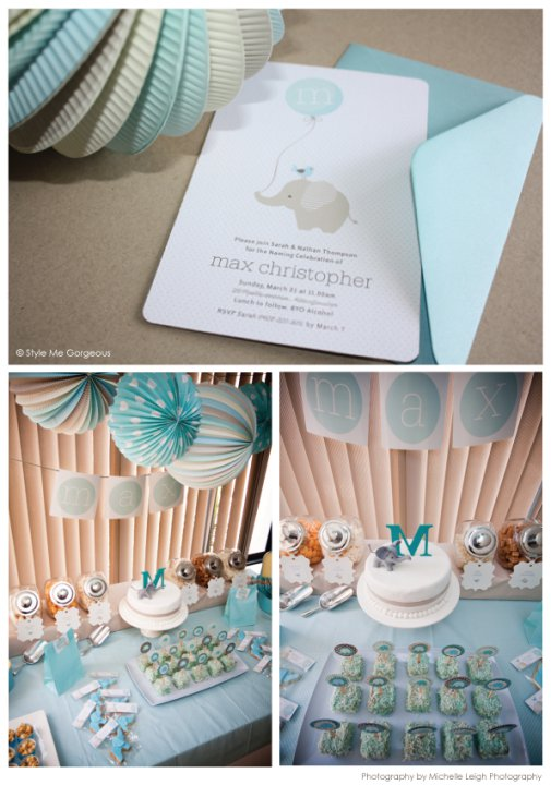 Swanky Blog: Baby Elephant makes a Perfect Baby Shower Theme