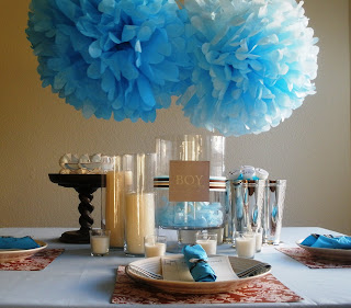 blue and brown baby shower table ideas photograph swanky b