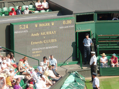 andy murray wimbledon 2009. Andy Murray vs Ernests Gulbris