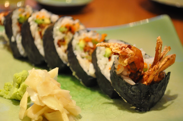 Sasa+Sushi+review+Angel+Islington+Japanese+restaurant+softshell+crab+roll