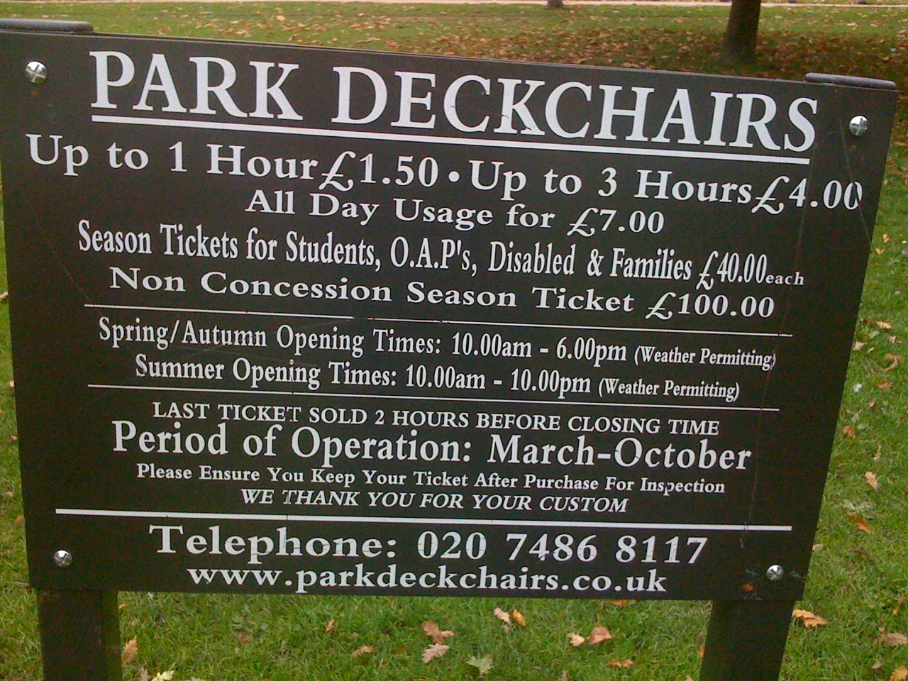 London+Hyde+Park+deckchair+cost