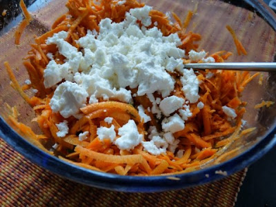 harissa carrot salad with feta 5 large carrots about 1