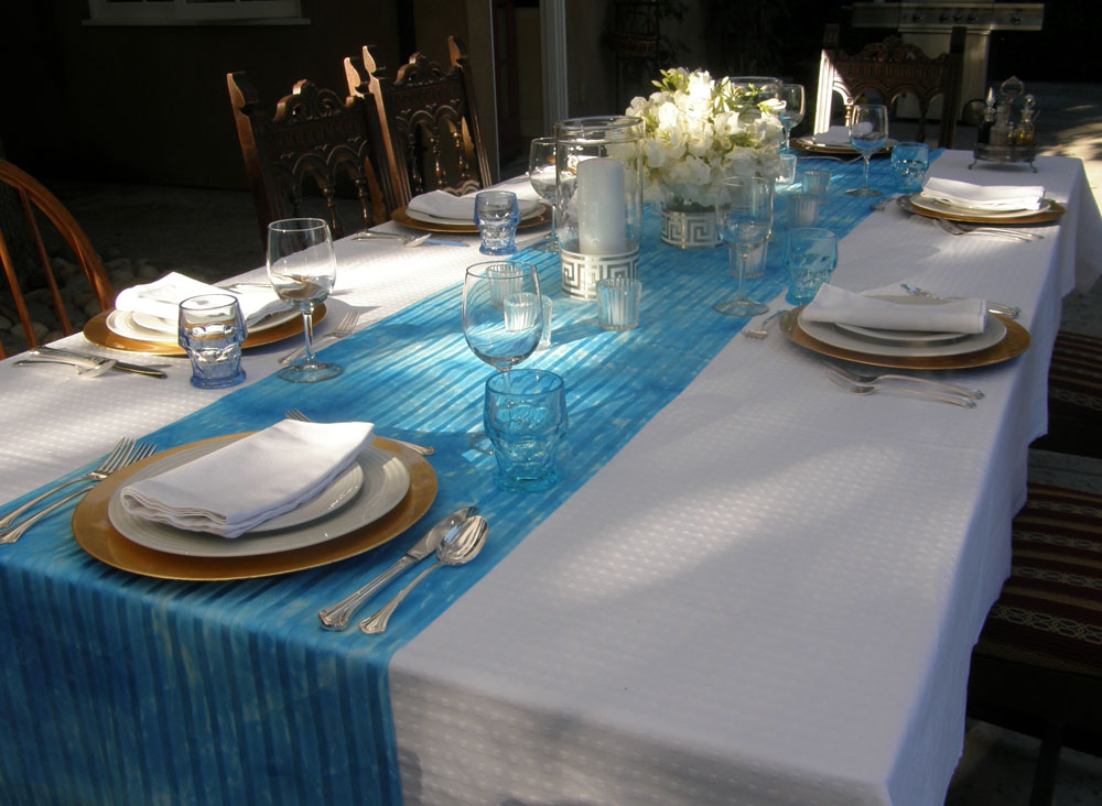 We Took Our Dining Room Table Out To The Patio Rigged A White Awning