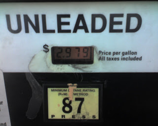 $2.97 for a gallon of gas in Baytown, Texas on Tuesday, October 7, 2008