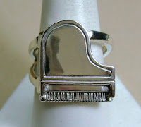 Handmade sterling silver piano ring by Jewelry Maker Tony Payne