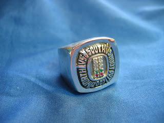 Custom sterling silver racing ring with genuine gemstones