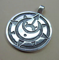 Custom made sterling silver pendant by jewelry designer Tony Payne