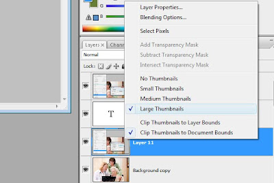 Photoshop Workflow: Change thumbnail sizes from small to large