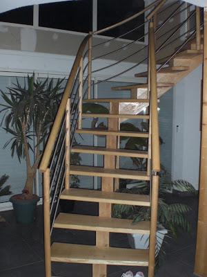 menuiserie david gires escalier bois inox. Black Bedroom Furniture Sets. Home Design Ideas