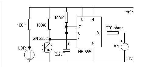 Electronica detector de oscuridad - Detector de luz ...