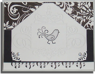 Black and White Bird card
